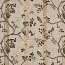 Red/Willow Embroidery Decorator Fabric by G P & J Baker