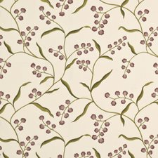 Spring/Lavender Embroidery Decorator Fabric by G P & J Baker