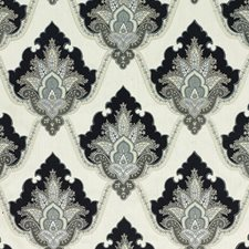 Charcoal Embroidery Decorator Fabric by G P & J Baker