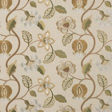Willow Embroidery Decorator Fabric by G P & J Baker