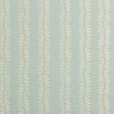Pale Aqua Embroidery Decorator Fabric by G P & J Baker