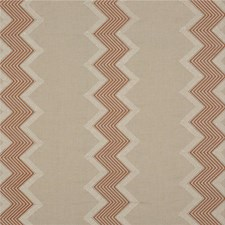 Rust Embroidery Decorator Fabric by G P & J Baker