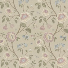 Blush Embroidery Decorator Fabric by G P & J Baker