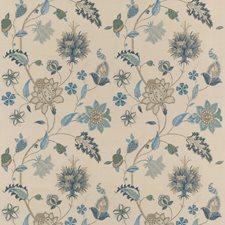 Indigo/Stone Embroidery Decorator Fabric by G P & J Baker