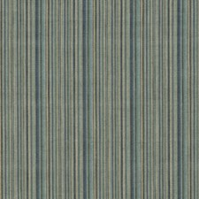 Soft Teal Stripes Decorator Fabric by G P & J Baker