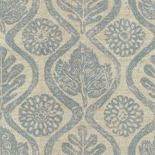 Blue/Oatmeal Contemporary Decorator Fabric by Lee Jofa
