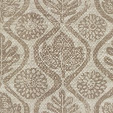 Taupe/Oat Botanical Decorator Fabric by Lee Jofa
