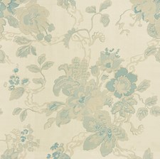 Blue/Oyster Botanical Decorator Fabric by Lee Jofa