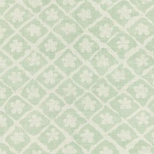 Aqua/Oyster Botanical Decorator Fabric by Lee Jofa