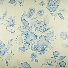 Blue Botanical Decorator Fabric by Lee Jofa