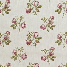 Rose/Green Print Decorator Fabric by Lee Jofa