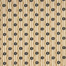 Charcoa Botanical Decorator Fabric by G P & J Baker