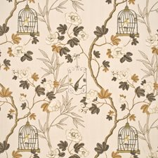 Silver/Bronze Print Decorator Fabric by G P & J Baker