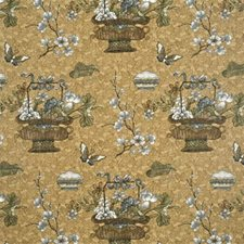 Gold/Silver Botanical Decorator Fabric by G P & J Baker