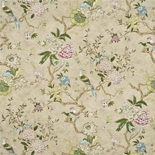 Pink/Olive Print Decorator Fabric by G P & J Baker