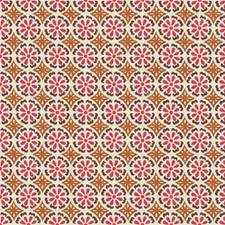 Pink/Clay Geometric Decorator Fabric by G P & J Baker