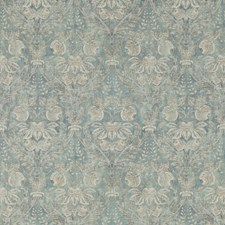 Blue Damask Decorator Fabric by G P & J Baker