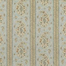 Blue/Sand Print Decorator Fabric by G P & J Baker
