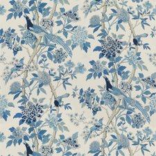 Blue Animal Decorator Fabric by G P & J Baker