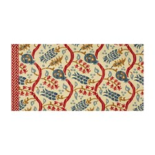 Pomegranate/Oxford Blue Ikat Decorator Fabric by Brunschwig & Fils