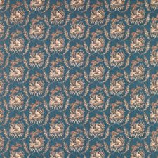 Oxford Blue Animal Decorator Fabric by Brunschwig & Fils