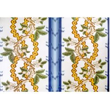 Lagoon and Ochre Botanical Decorator Fabric by Brunschwig & Fils