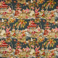 Grey/Pink Asian Decorator Fabric by Brunschwig & Fils