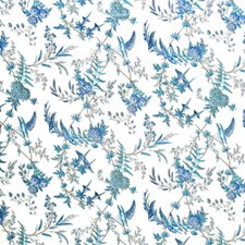 Camaieu Blue Botanical Decorator Fabric by Brunschwig & Fils