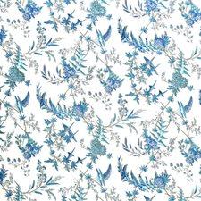 Camaieu Blue Botanical Decorator Fabric by Brunschwig & Fils