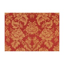 Rouge/Ivoire Damask Decorator Fabric by Brunschwig & Fils