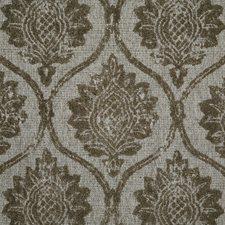 Pewter Damask Decorator Fabric by Pindler
