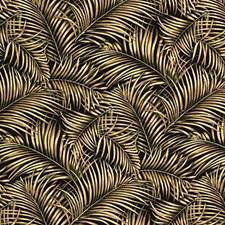 Black/Beige/Green Botanical Decorator Fabric by Kravet