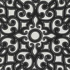 Black/linen Decorator Fabric by Duralee