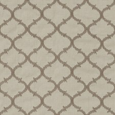 Taupe Embroidery Decorator Fabric by Duralee