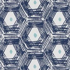 Sapphire Abstract Decorator Fabric by Duralee