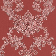 Red Damask Decorator Fabric by Duralee