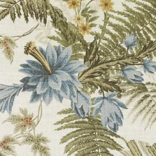 Clay/Olive Leaf Decorator Fabric by Duralee