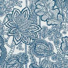 Sapphire Floral Medium Decorator Fabric by Duralee
