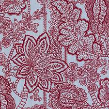 Red/Blue Floral Medium Decorator Fabric by Duralee