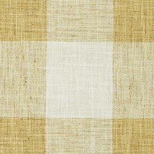Creme/Gold Plaid Decorator Fabric by Duralee