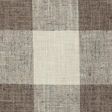 Natural/Brown Plaid Decorator Fabric by Duralee
