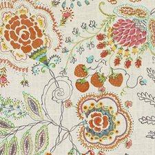 Terra/Sage Birds Decorator Fabric by Duralee
