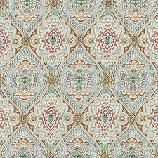 Clay/Olive Ethnic Decorator Fabric by Duralee