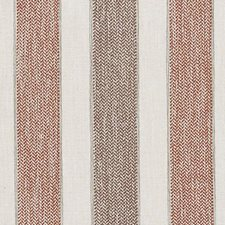 Natural/Red Stripe w Decorator Fabric by Duralee