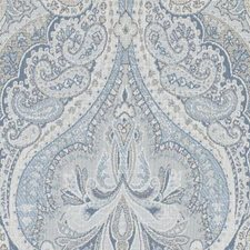 Natural/Blue Paisley Decorator Fabric by Duralee