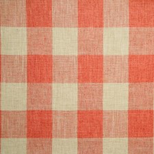 Coral Check Decorator Fabric by Pindler