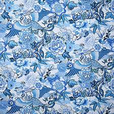 Blue Traditional Decorator Fabric by Pindler