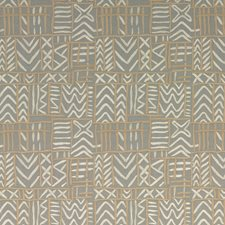 Grey Embroidery Decorator Fabric by Threads