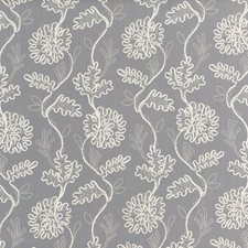 Slate Embroidery Decorator Fabric by Threads