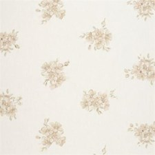 Natural Floral Small Decorator Fabric by Clarke & Clarke
